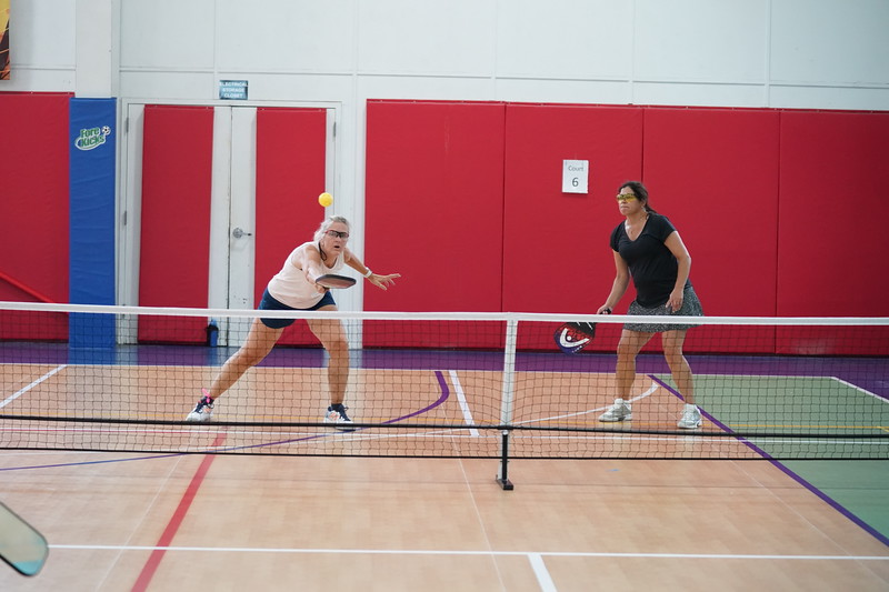 MA Sr Pickleball Tournament - Bev and Chris on Different Court    - 158