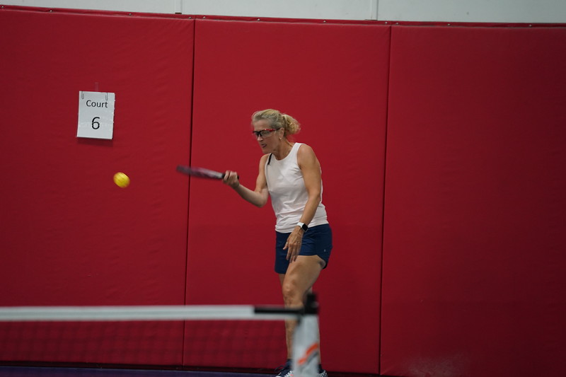 MA Sr Pickleball Tournament - Bev and Chris on Different Court    - 26