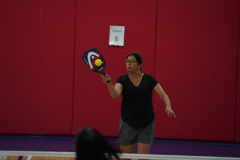MA Sr Pickleball Tournament - Bev and Chris on Different Court    - 82