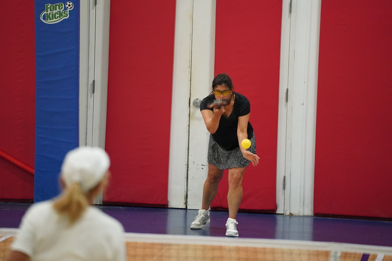 MA Sr Pickleball Tournament - Bev and Chris on Different Court    - 72