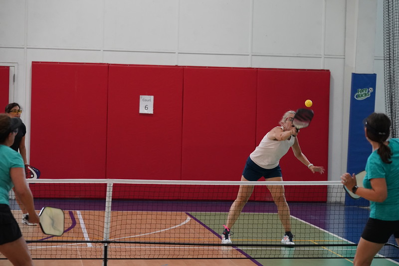 MA Sr Pickleball Tournament - Bev and Chris on Different Court    - 200