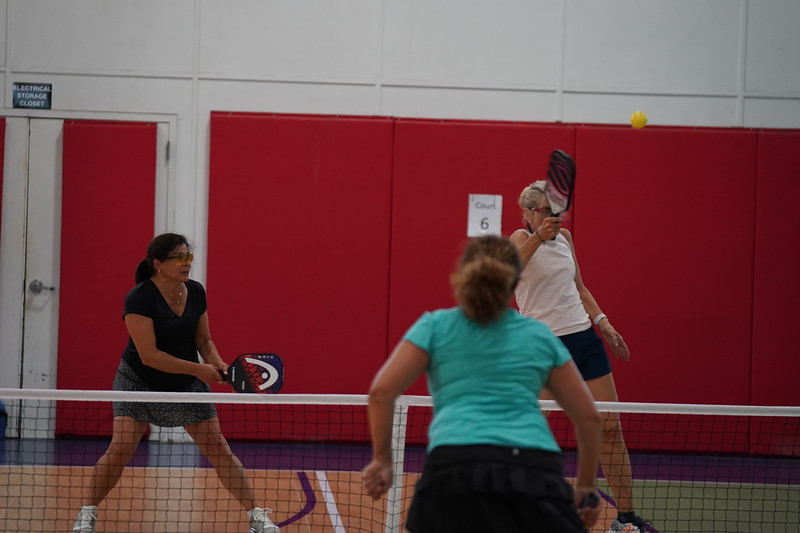 MA Sr Pickleball Tournament - Bev and Chris on Different Court    - 113