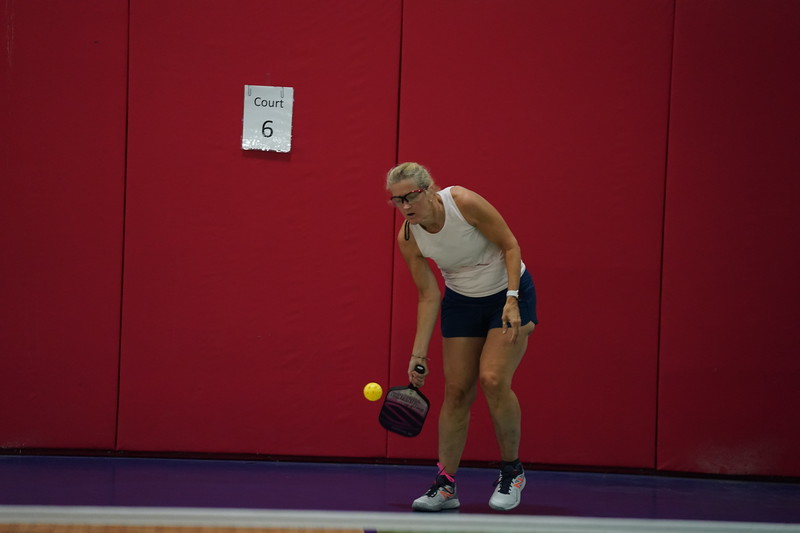 MA Sr Pickleball Tournament - Bev and Chris on Different Court    - 68