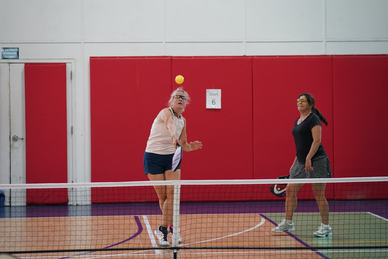 MA Sr Pickleball Tournament - Bev and Chris on Different Court    - 156
