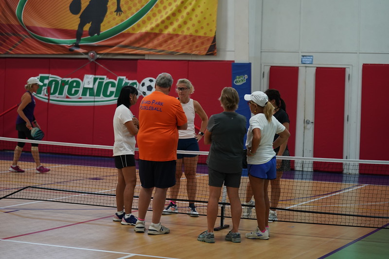 MA Sr Pickleball Tournament - Bev and Chris on Different Court    - 21