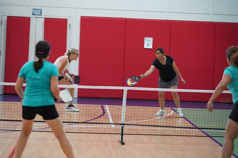 MA Sr Pickleball Tournament - Bev and Chris on Different Court    - 142