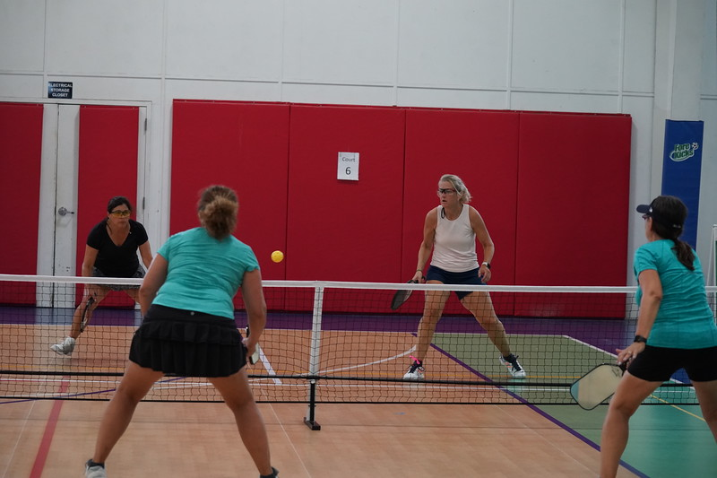MA Sr Pickleball Tournament - Bev and Chris on Different Court    - 210