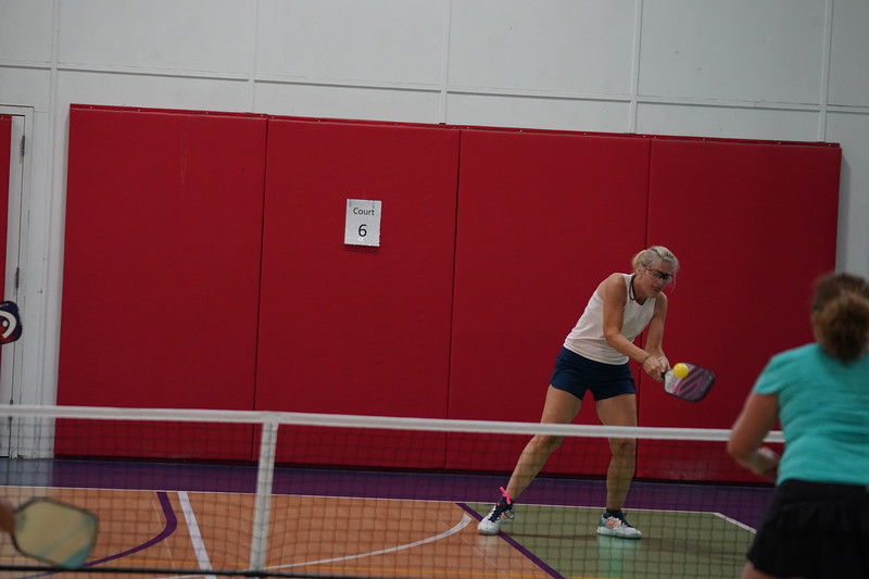 MA Sr Pickleball Tournament - Bev and Chris on Different Court    - 101