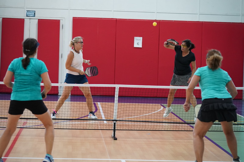 MA Sr Pickleball Tournament - Bev and Chris on Different Court    - 138