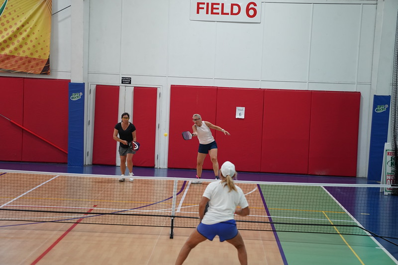 MA Sr Pickleball Tournament - Bev and Chris on Different Court    - 16