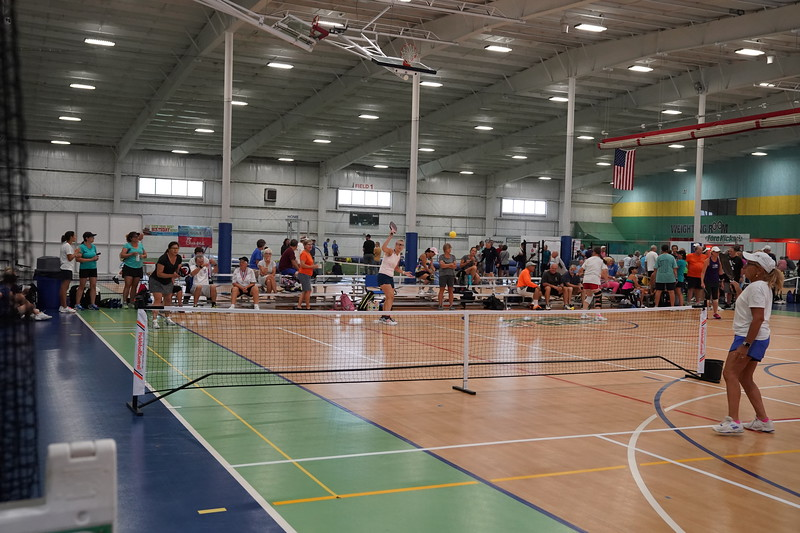 MA Sr Pickleball Tournament - Bev and Chris on Different Court    - 9