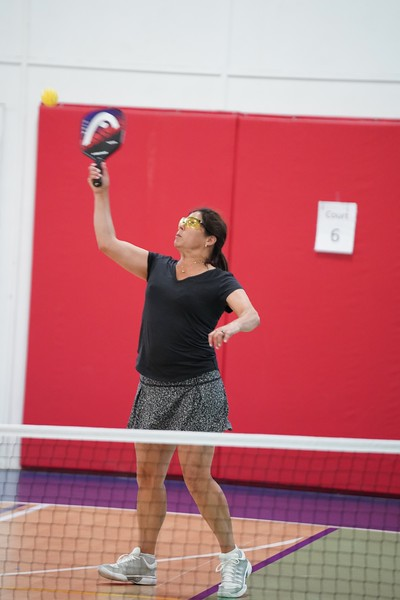 MA Sr Pickleball Tournament - Bev and Chris on Different Court    - 44