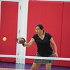 MA Sr Pickleball Tournament - Bev and Chris on Different Court    - 40