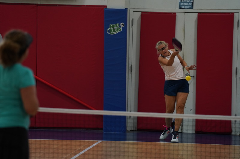 MA Sr Pickleball Tournament - Bev and Chris on Different Court    - 119