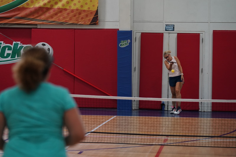 MA Sr Pickleball Tournament - Bev and Chris on Different Court    - 127