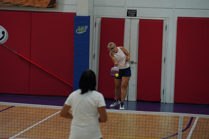 MA Sr Pickleball Tournament - Bev and Chris on Different Court    - 89