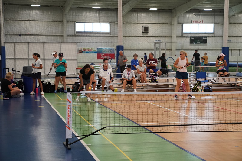 MA Sr Pickleball Tournament - Bev and Chris on Different Court    - 1