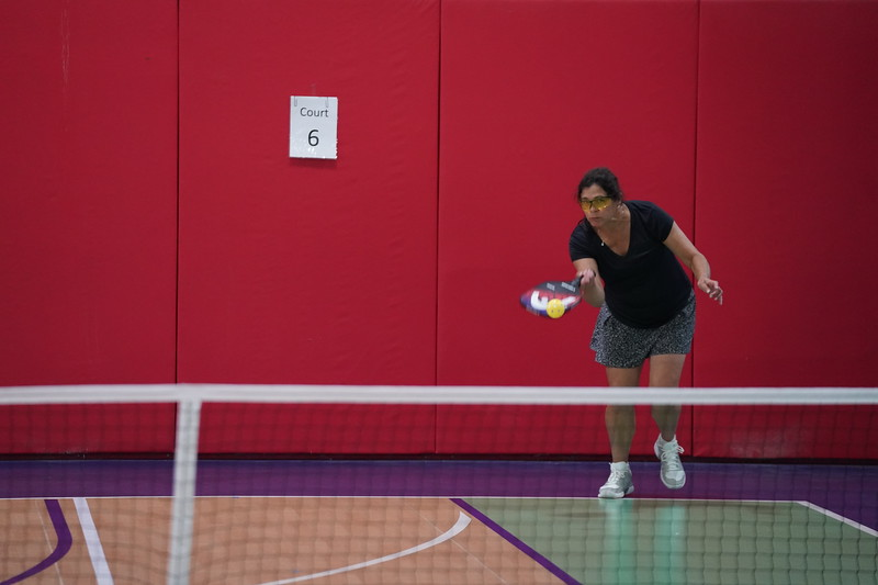 MA Sr Pickleball Tournament - Bev and Chris on Different Court    - 117