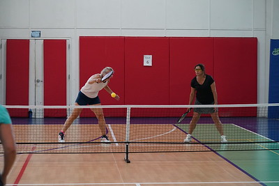 MA Sr Pickleball Tournament - Bev and Chris on Different Court    - 170