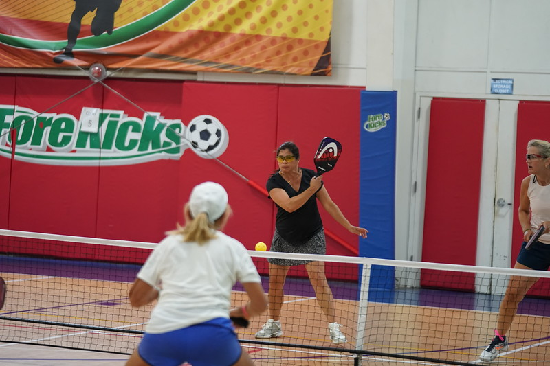 MA Sr Pickleball Tournament - Bev and Chris on Different Court    - 24