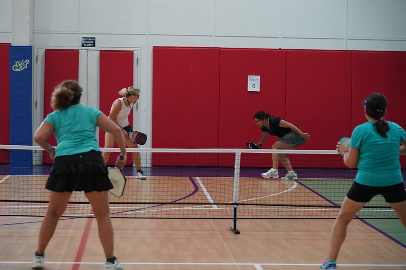 MA Sr Pickleball Tournament - Bev and Chris on Different Court    - 202