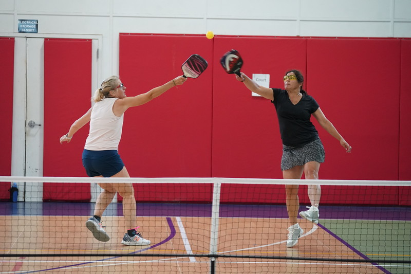 MA Sr Pickleball Tournament - Bev and Chris on Different Court    - 154