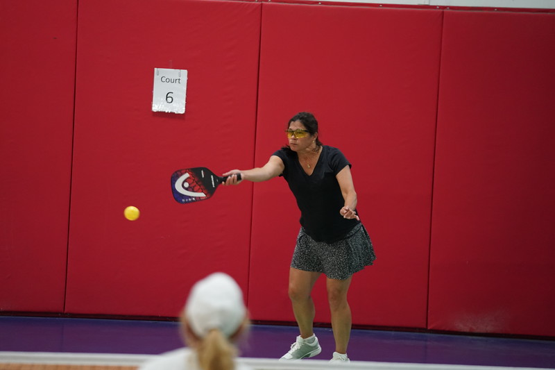 MA Sr Pickleball Tournament - Bev and Chris on Different Court    - 53