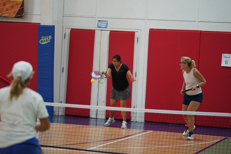 MA Sr Pickleball Tournament - Bev and Chris on Different Court    - 22
