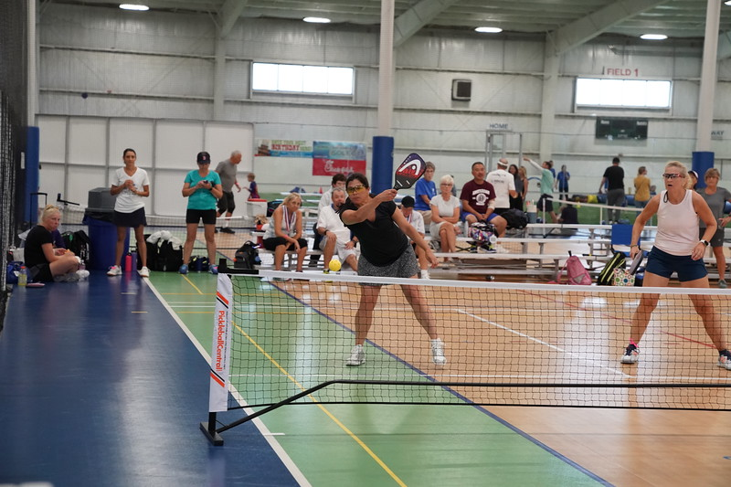 MA Sr Pickleball Tournament - Bev and Chris on Different Court    - 4
