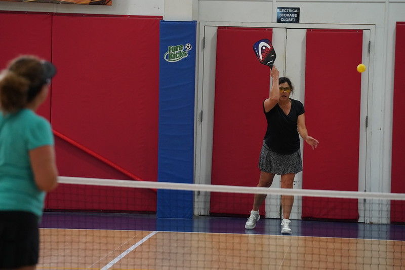 MA Sr Pickleball Tournament - Bev and Chris on Different Court    - 203