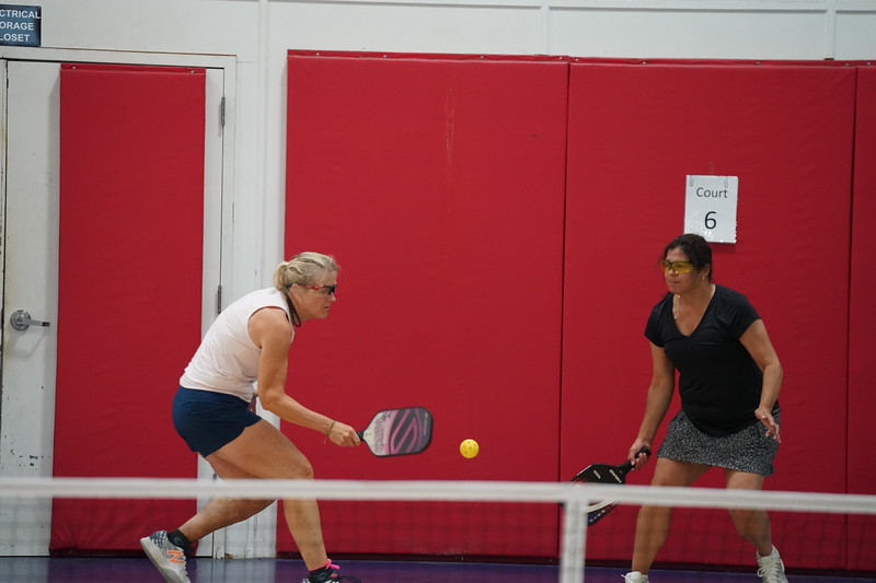 MA Sr Pickleball Tournament - Bev and Chris on Different Court    - 116
