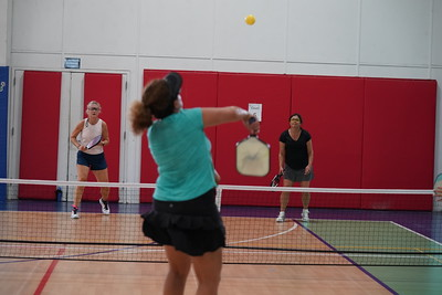 MA Sr Pickleball Tournament - Bev and Chris on Different Court    - 190