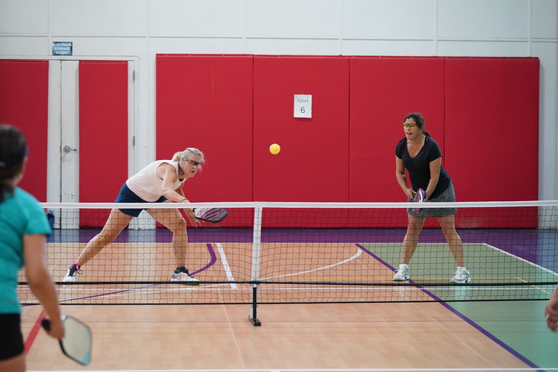 MA Sr Pickleball Tournament - Bev and Chris on Different Court    - 149
