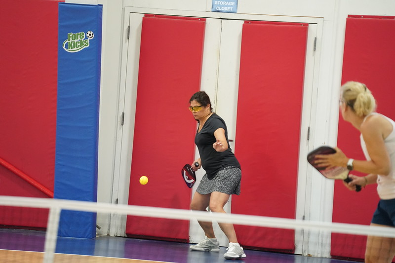 MA Sr Pickleball Tournament - Bev and Chris on Different Court    - 28