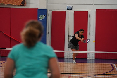 MA Sr Pickleball Tournament - Bev and Chris on Different Court    - 211