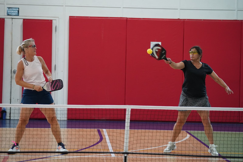 MA Sr Pickleball Tournament - Bev and Chris on Different Court    - 153