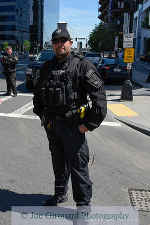 Boston Police SWAT working the Boston Run To Remember