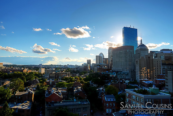 View from our hotel room in Boston.