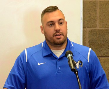 Members of the Macomb Area Conference came together at Chippewa Valley High School on Tuesday for MAC Football Media Day. The event featured Madison Heights Madison, Madison Heights Lamphere and Clawson, among other Macomb County football teams. (Oakland Press photo by Drew Ellis)