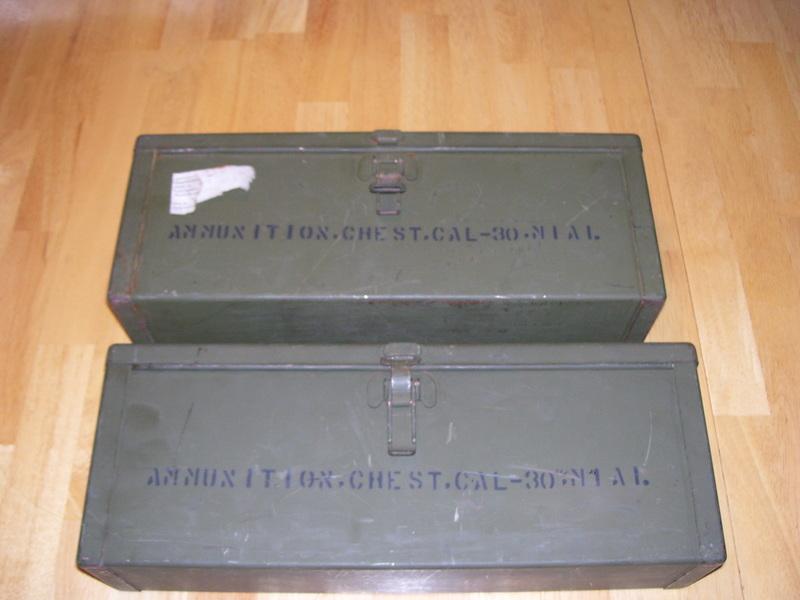 WW11 ERA M1A1 AMMUNITION CHESTS<br /> <br /> (CRAIG JOHNSON COLLECTION)