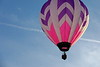 Purple and Pink Hot Air Balloon Near Dusk