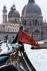 Flag on Bow of Gondola, Venice Italy