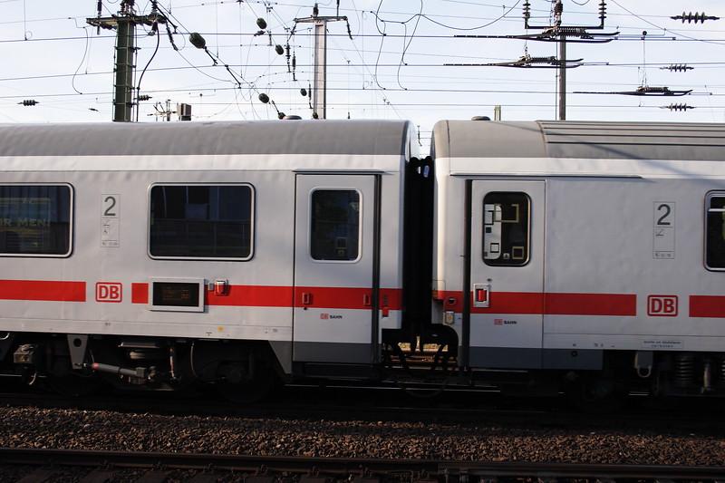 Passing Train Koln HB Train Station Yard, Cologne Germany