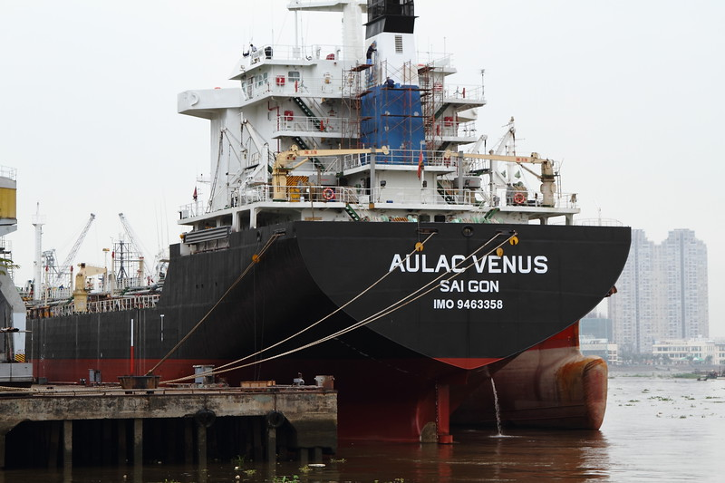 Aulac Venus at Dock in Saigon River, Saigon Vietnam