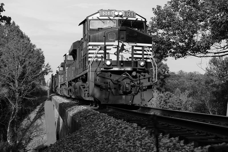Train on Bostian Bridge, Statesville NC