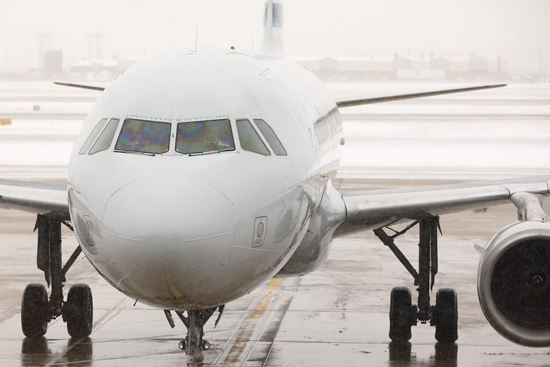Airplane Approaching Terminal