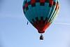Blue, Black Red Checkers Hot Air Balloon