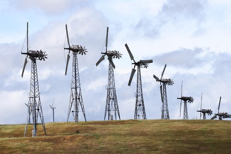Wind Farm Turbines in the Hills of CA