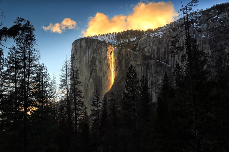 Firefall at Yosemite National Park - Feb 17, 2017
