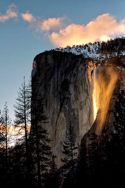 Angel Wings - Firefall at Horsetail Falls - Yosemite National Park - Feb 2017